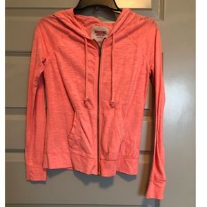 Coral Zip Up With Hood, Size XS